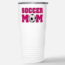 Soccer Mom - Hot Pink Travel Mug
