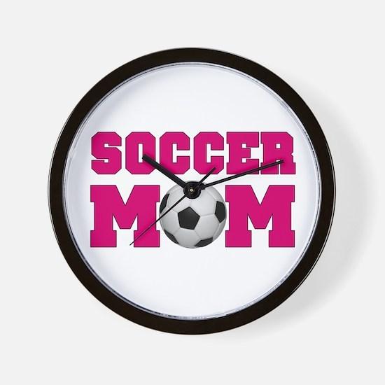 Soccer Mom - Hot Pink Wall Clock