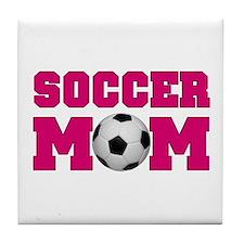 Soccer Mom - Hot Pink Tile Coaster