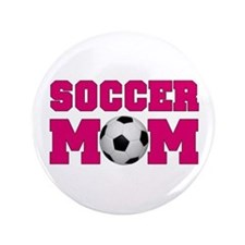 "Soccer Mom - Hot Pink 3.5"" Button (100 pack)"
