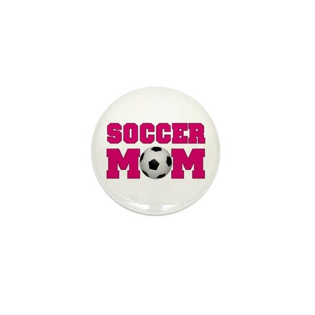 Soccer Mom - Hot Pink Mini Button (10 pack)