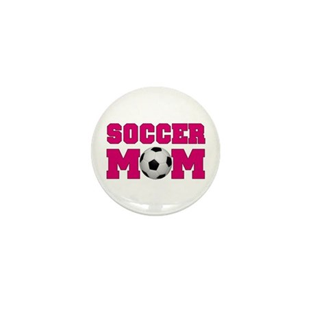 Soccer Mom - Hot Pink Mini Button