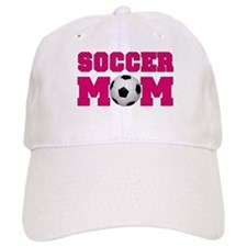 Soccer Mom - Hot Pink Baseball Cap