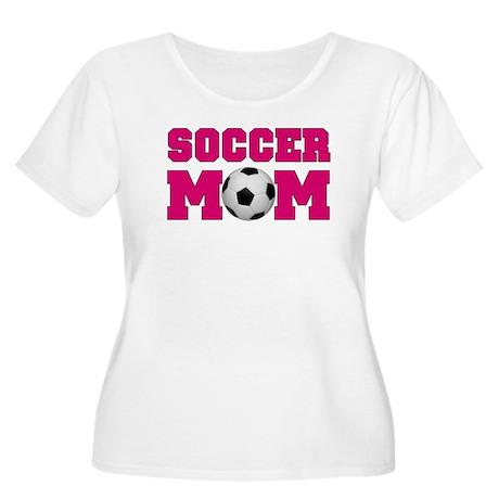 Soccer Mom - Hot Pink Women's Plus Size Scoop Neck