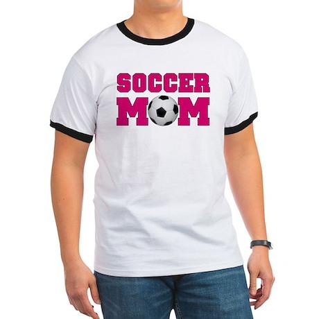 Soccer Mom - Hot Pink Ringer T