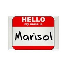 Hello my name is Marisol Rectangle Magnet