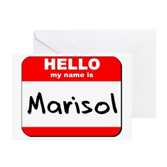 Hello my name is Marisol Greeting Cards (Pk of 10)