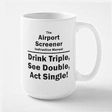 Airport Screener Large Mug