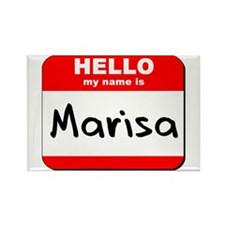 Hello my name is Marisa Rectangle Magnet