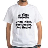 Air traffic control Mens White T-shirts