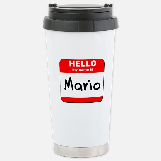 Hello my name is Mario Stainless Steel Travel Mug