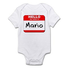 Hello my name is Mario Infant Bodysuit