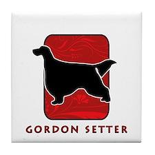 Gordon Setter Tile Coaster