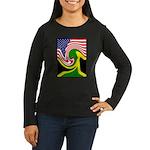 jamaika Women's Long Sleeve Dark T-Shirt