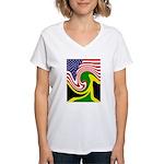 jamaika Women's V-Neck T-Shirt
