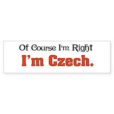I'm Czech Bumper Bumper Sticker