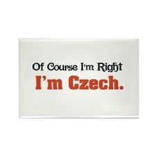 I'm Czech Rectangle Magnet