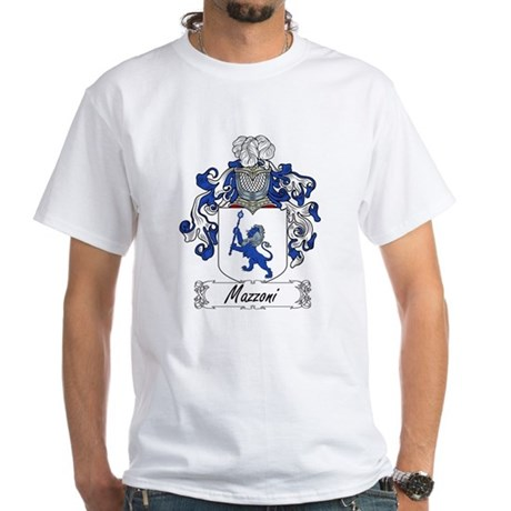 Mazzoni Family Crest White T-Shirt