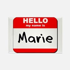 Hello my name is Marie Rectangle Magnet