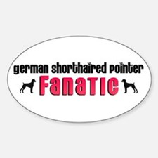 German Shorthaired Pointer Fanatic Oval Decal