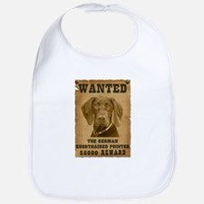"""Wanted"" German Shorthaired Pointer Bib"