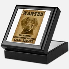 """Wanted"" German Shorthaired Pointer Keepsake Box"