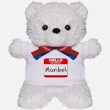 Hello my name is Maribel Teddy Bear