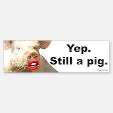 Pig in Lipstick Bumper Bumper Bumper Sticker