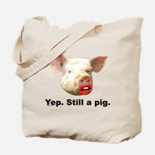 Pig in Lipstick Tote Bag