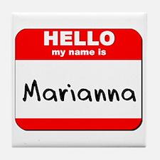 Hello my name is Marianna Tile Coaster