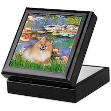 Lilies2/Pomeranian #4 Keepsake Box