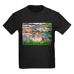 Lilies2/Pomeranian #4 Kids Dark T-Shirt