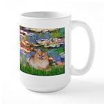Lilies2/Pomeranian #4 Large Mug