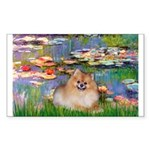 Lilies2/Pomeranian #4 Sticker (Rectangle)