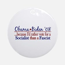 Obama Socialist Ornament (Round)