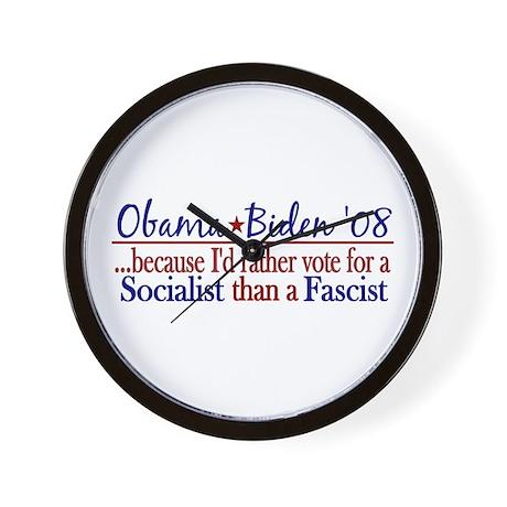 Obama Socialist Wall Clock
