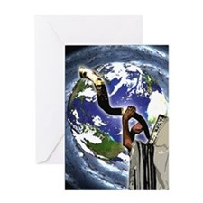 Shofar Earth Greeting Card