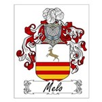 Melo Family Crest Small Poster