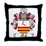 Melo Family Crest Throw Pillow
