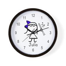 Clarinet - Julia Wall Clock