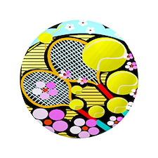 """Cute Tennis 3.5"""" Button (100 pack)"""