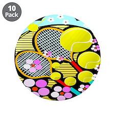 """Cute Tennis 3.5"""" Button (10 pack)"""