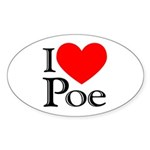 Poe Oval Sticker (10 pk)