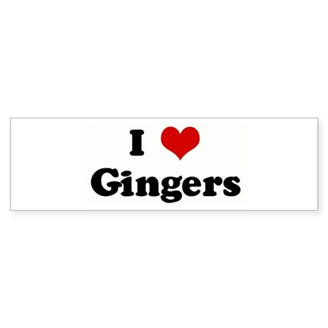 I Love Gingers Bumper Sticker