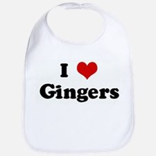 I Love Gingers Bib