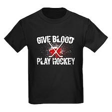 givebloodplayhockeycrosslesswhite T-Shirt