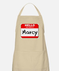 Hello my name is Marcy BBQ Apron