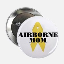 Airborne Mom Ribbon Button