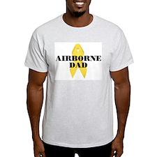 Airborne Dad Ribbon Ash Grey T-Shirt