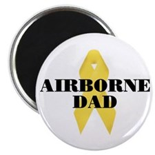 Airborne Dad Ribbon Magnet